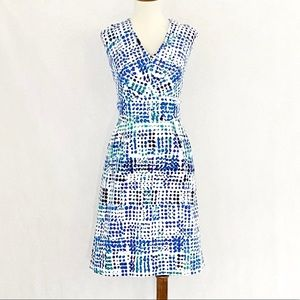 Calvin Klein Sleeveless Cotton Pattern Dress